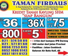 Kredit Tanah Kavling SHM Siap Bangun Dekat IPB Dramaga Bogor MD470