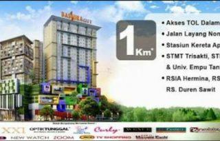 Jual Apartemen Bassura City Tower Geranium 2BR Jakarta Timur P0857
