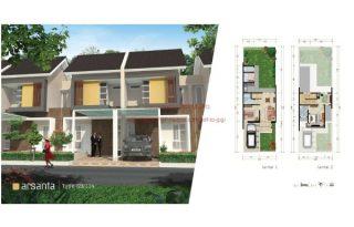 Dijual Rumah  Cluster Samata  Type Arsanta 2 Lantai di ,Harapan Indah Bekasi Barat MD697