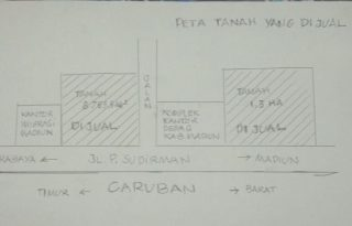 Dijual 2 Bidang Tanah Untuk Tempat Usaha / Perumahan di Madiun PR1759